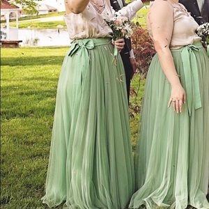 Dresses & Skirts - Sage Green Tulle Skirt